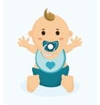 Baby boy cartoon of baby shower concept vector image vector image