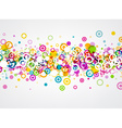 Background with circles pattern vector image vector image