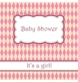 Background with rhombuses pattern baby shower vector image vector image