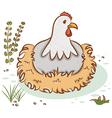 Beautiful hen vector image vector image