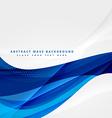 blue business wave design vector image vector image