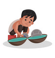 boy cartoon character vector image