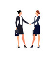 businesswomen shake hands isolated vector image vector image