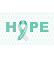 cervical cancer ribbon vector image vector image