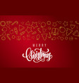 christmas holiday postcard with lettering vector image