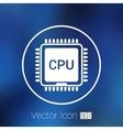 Circuit board icon Technology scheme square vector image vector image