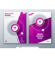 cover set pink template for brochure banner vector image vector image