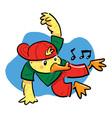 Dancing Duck vector image vector image