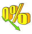 decline in revenue icon cartoon vector image