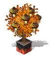 decorative lamp in the form of a potted tree with vector image vector image