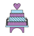 delicious and sweet cake to celebrate design vector image