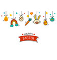 easter flyer and banner template with decorative vector image vector image