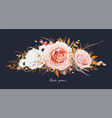 floral bouquet design blush peach pink roses vector image vector image
