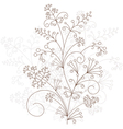 floral design grassy ornament vector image vector image