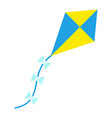 flying kite with tail icon flat isolated vector image