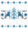 folk background Winter vector image