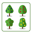 Fruit tree icons set 3 vector image