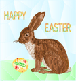 Happy Easter Bunny and Easter eggs polygons vector image vector image