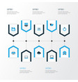 hardware colorful icons set collection of vector image vector image