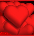 hearts 3d background texture valentine vector image vector image