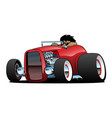 highboy hot rod roadster with driver vector image vector image