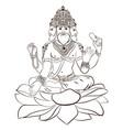 hindu god brahma vector image