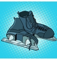 Men skates winter sports vector image vector image