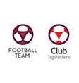 modern logo for football club league or school vector image
