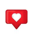 notification like icon love icon social media vector image