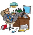 Office worker dreaming about vacation vector image vector image