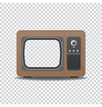 old style tv vector image vector image