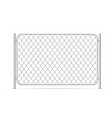 part glossy metal chain link fence on white vector image vector image