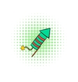 Party popper comics icon vector image vector image