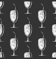 pattern with milkshake vector image vector image
