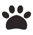 paw print pet icon vector image