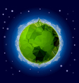 poligonal planet 2 vector image