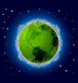 Poligonal Planet 2 vector image vector image