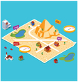 pre assembly wild west map vector image vector image