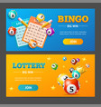 realistic lotto banner horizontal set vector image vector image