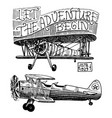 set of passenger airplanes corncob or plane vector image vector image