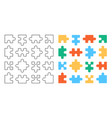 set puzzle pieces vector image