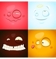 set with cute different emotions vector image vector image