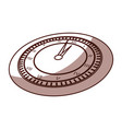 shadow clock cartoon vector image