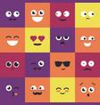 smiley - modern set emoji vector image
