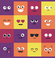 smiley - modern set of emoji vector image vector image