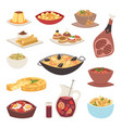 spain cuisine cookery traditional food dish recipe vector image vector image