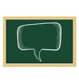 speech bubble sketch on chalkboard background vector image vector image