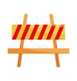 Traffic barrier icon cartoon style vector image vector image