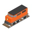 Train locomotive transportation railway vector image