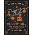 typography halloween party invitation card vector image